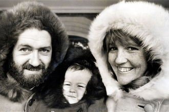 Sir Wally Herbert with Family